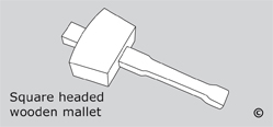 Square Headed Wooden Mallets